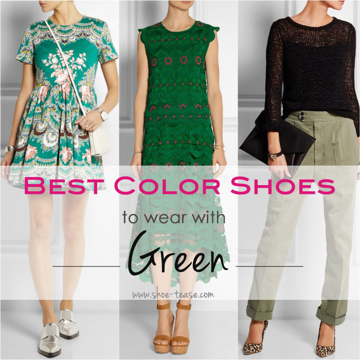 Go Green! Best Color Shoes to Wear with Green Dresses & Outfits