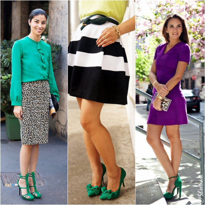 9 Fab Street Style Outfits with Green Shoes from Pinterest
