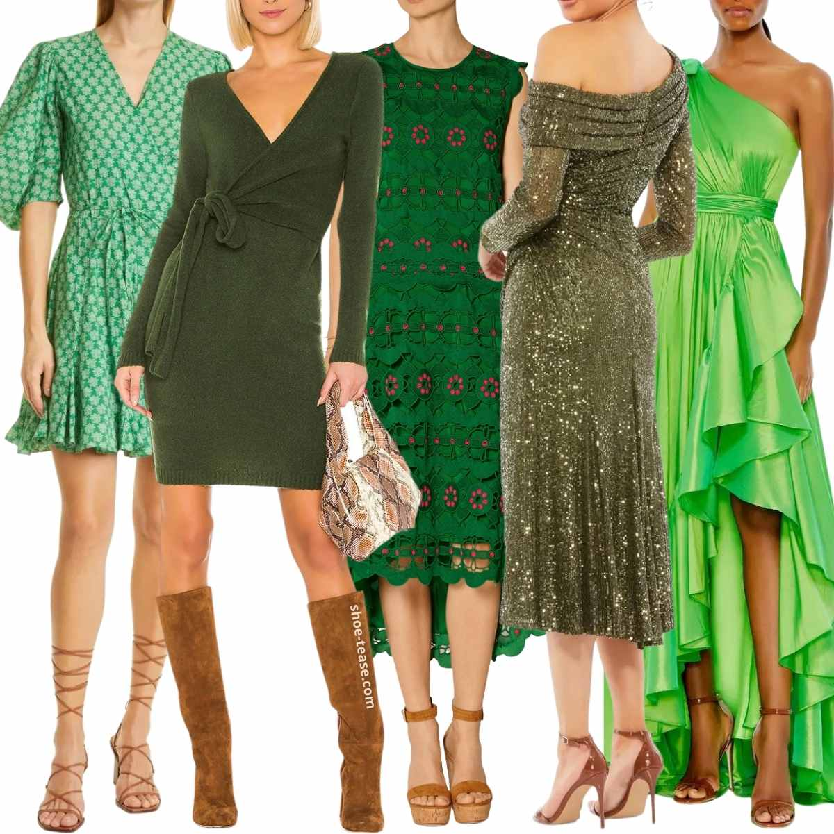 Best Shoes to Wear with Green