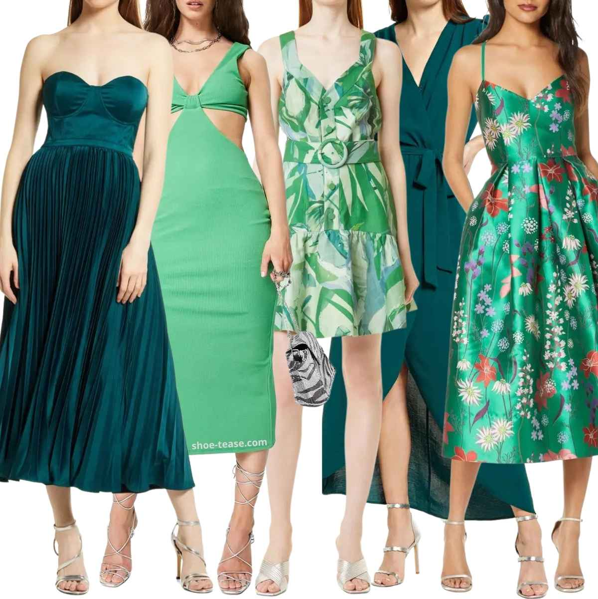 What Colour Of Shoe Goes With Bottle Green Dress