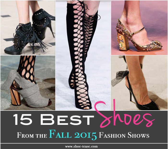 best runway shoes from the fall 2015 shows