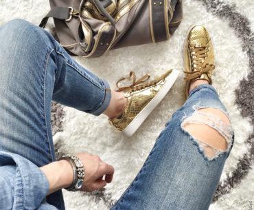 Metallic Gold Sneakers under $200