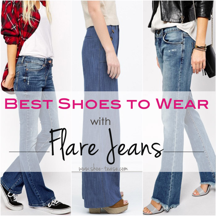 Bootcut jeans with flat shoes