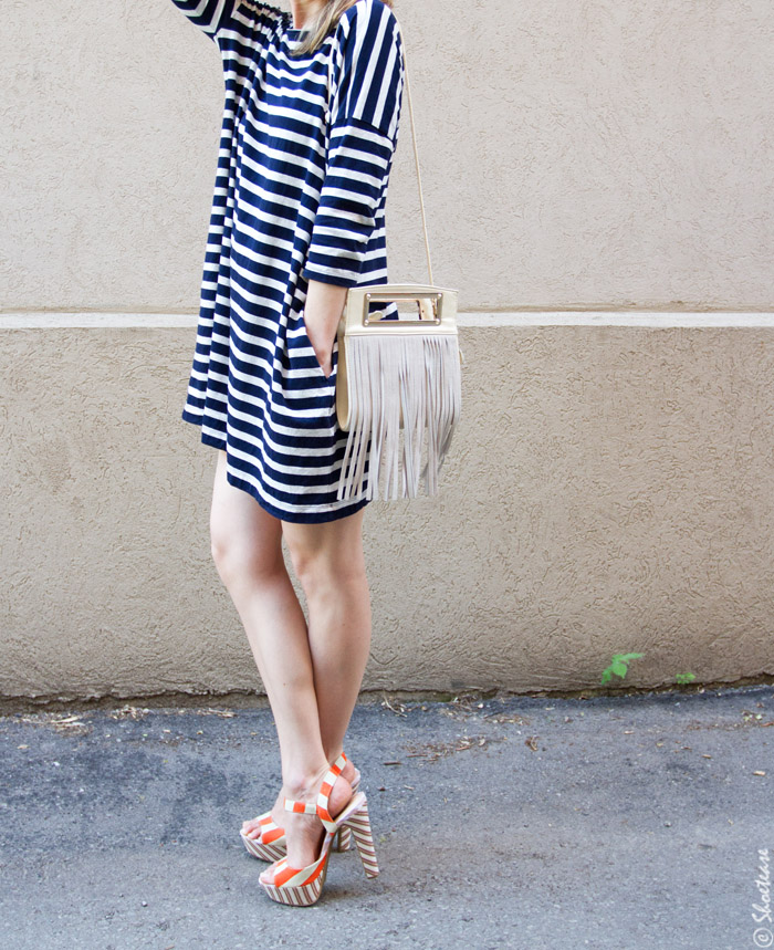 Double Striped Shoes with Stripes on Stripes…