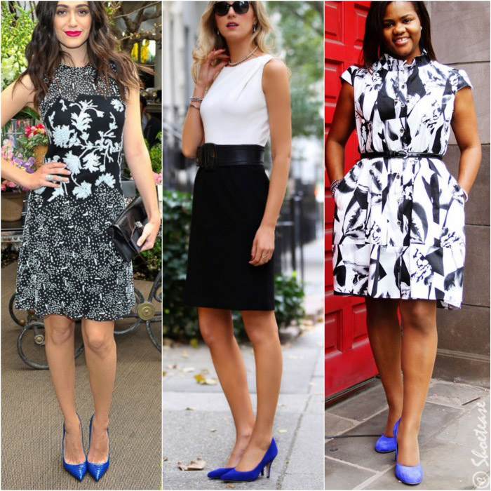 What color shoes to wear with black and white dress 9 jpg