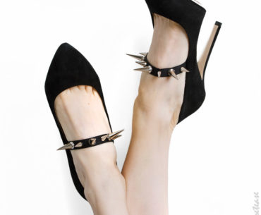 Spiked & Jewelled Detachable Shoe Straps