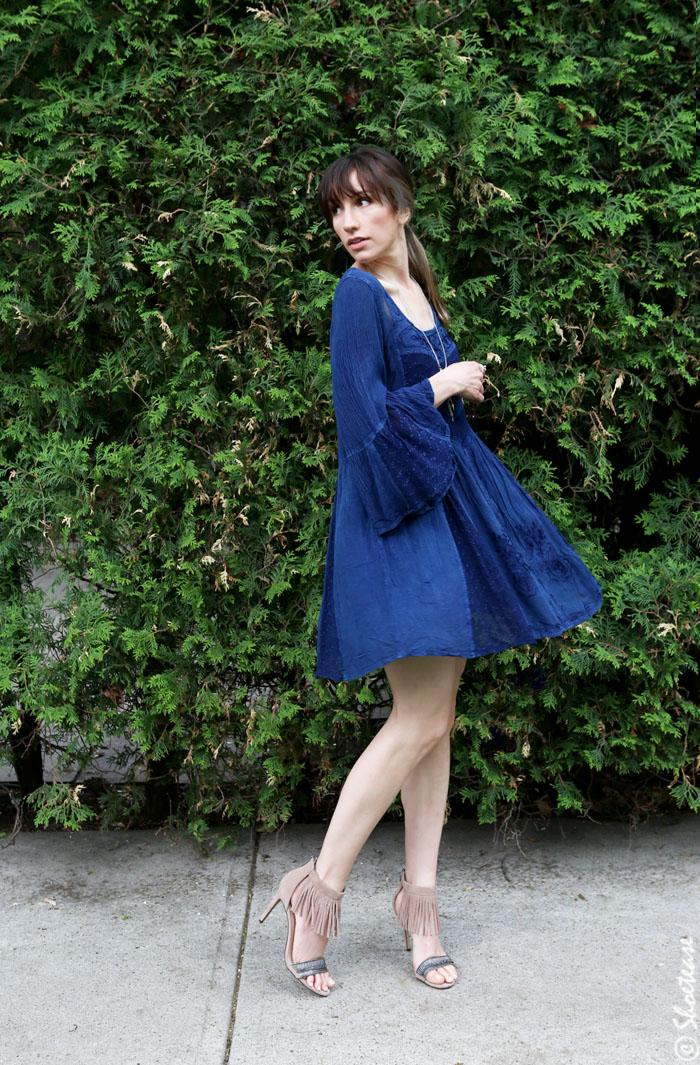 Beige Fringe Sandals With Bohemian Dress