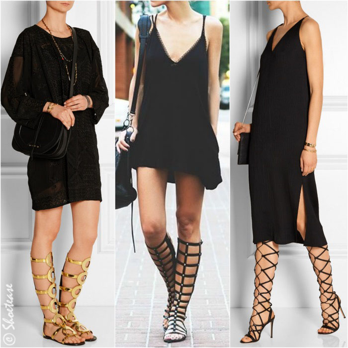 How to Wear Gladiator Sandals LBD1