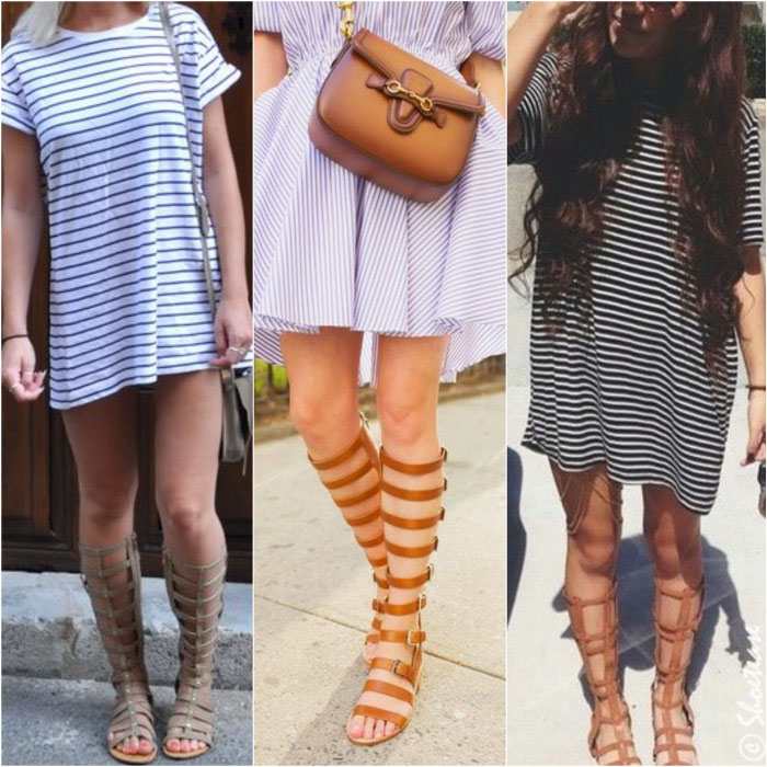 How to Wear Gladiator Sandals Stripes