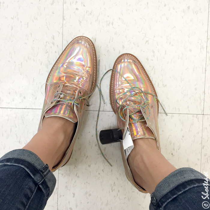 Dixie outlet shoe shopping rose gold hollogram brogues