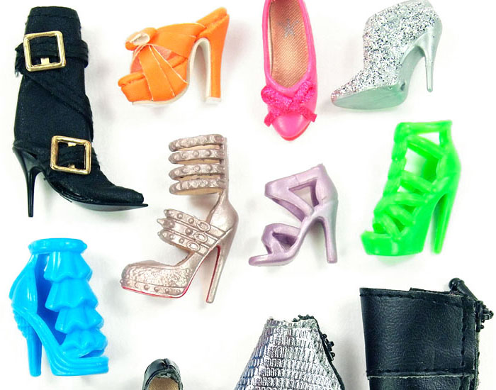 barbie doll shoes slider