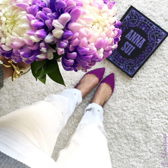 Shoefie props flowers book
