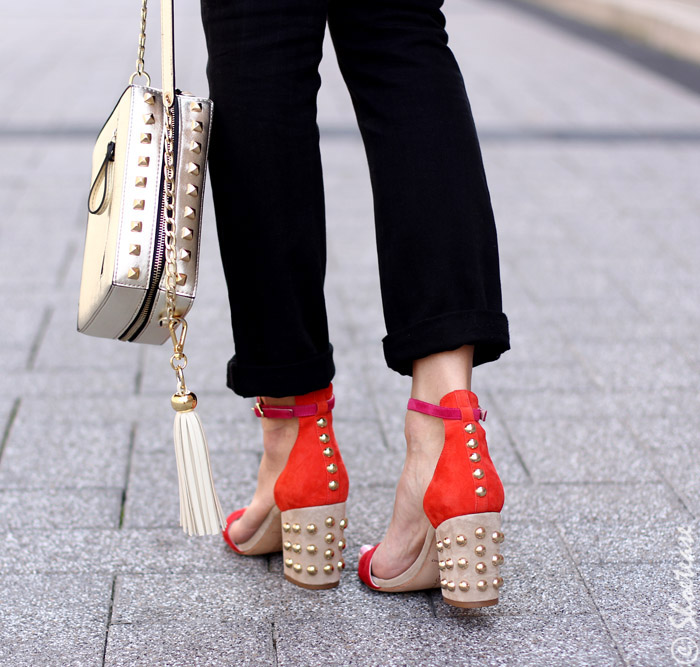 Red Studded Sandals