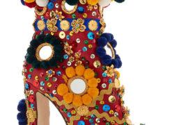 Colorful Dolce&Gabbana Pom Pom boots