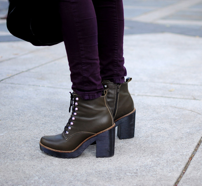 Toronto Fashion Week army green boots