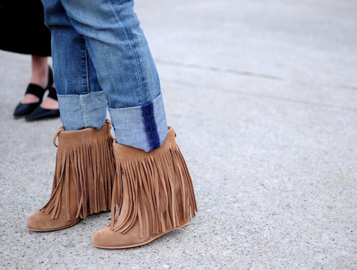 Toronto Fashion Week bringe wedge boots