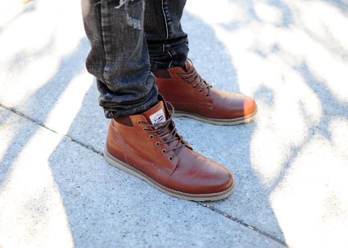 Toronto Fashion Week brown boots