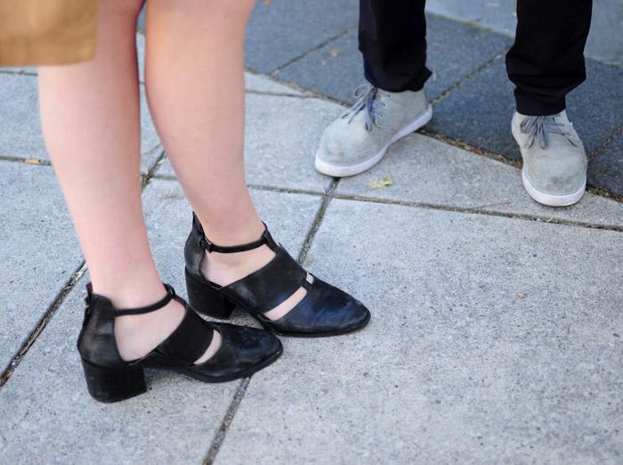 Toronto Fashion Week dirty shoes