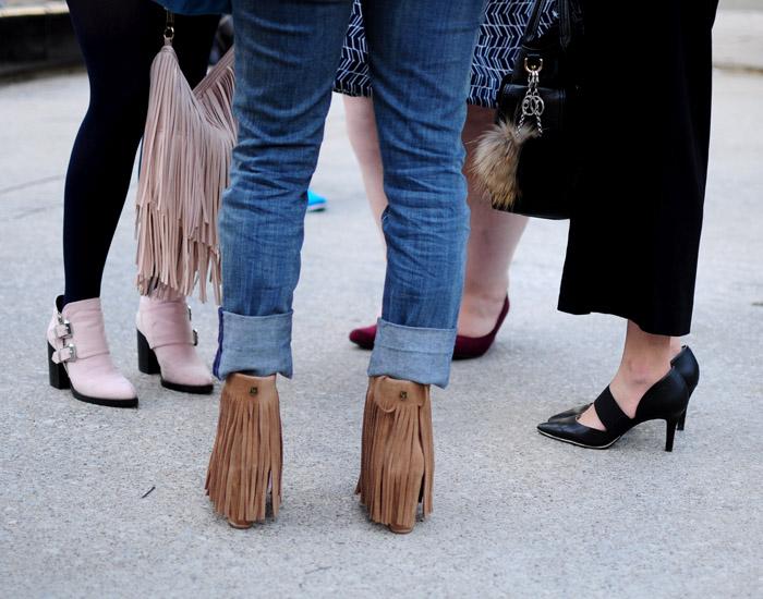 Toronto Fashion Week group shoes