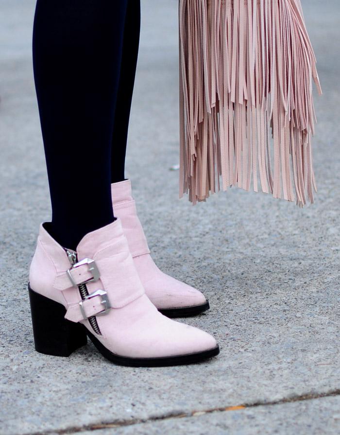Toronto Fashion Week pink western boots