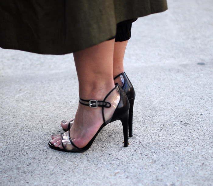 Toronto Fashion Week transparent sandals
