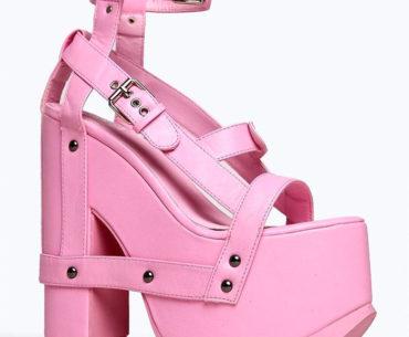 ugly pink platform sandals