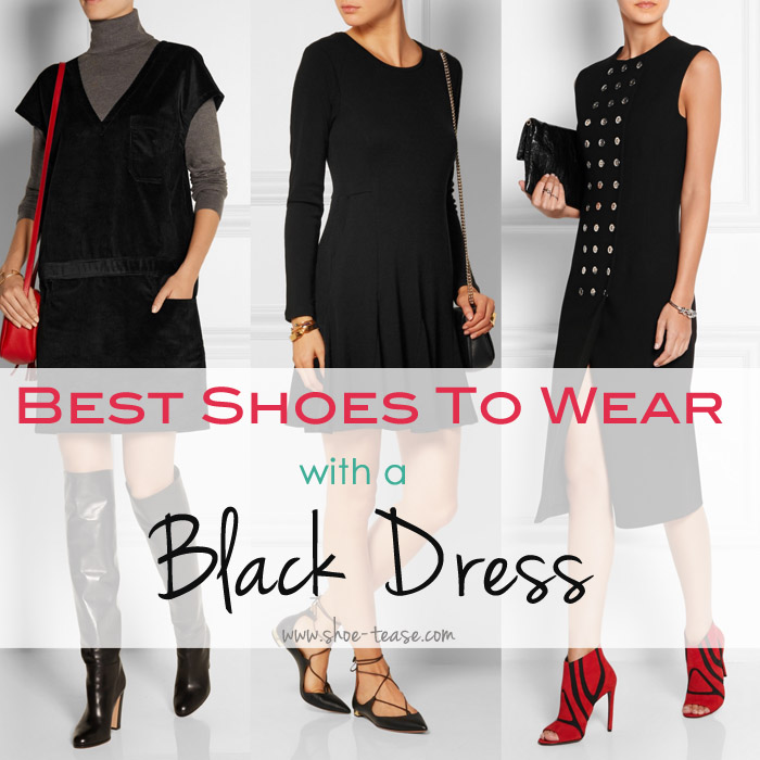 Fashionable Shoes To Wear With Black Dress 2018