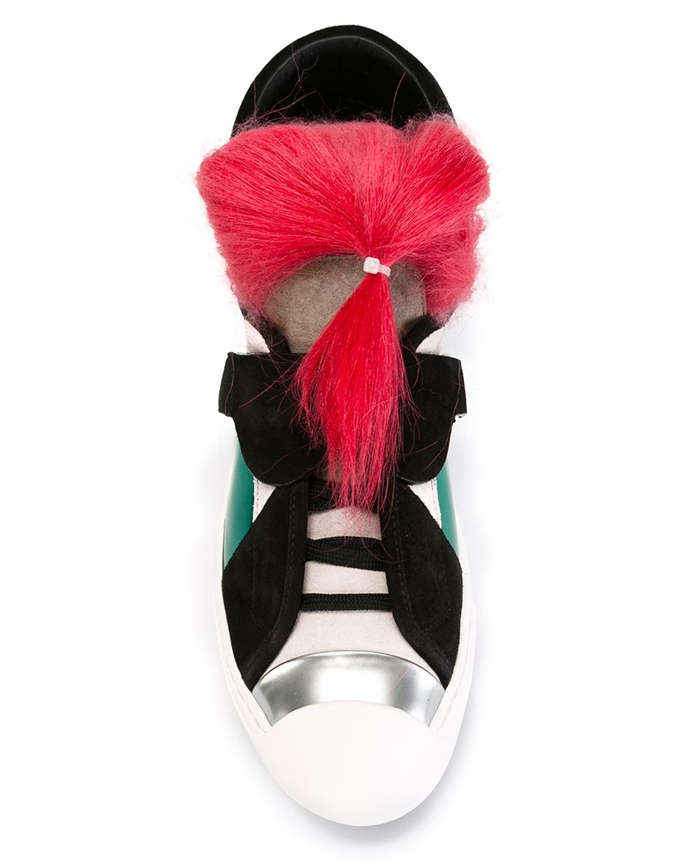 Fendi Karlito Pink Hair Sneakers