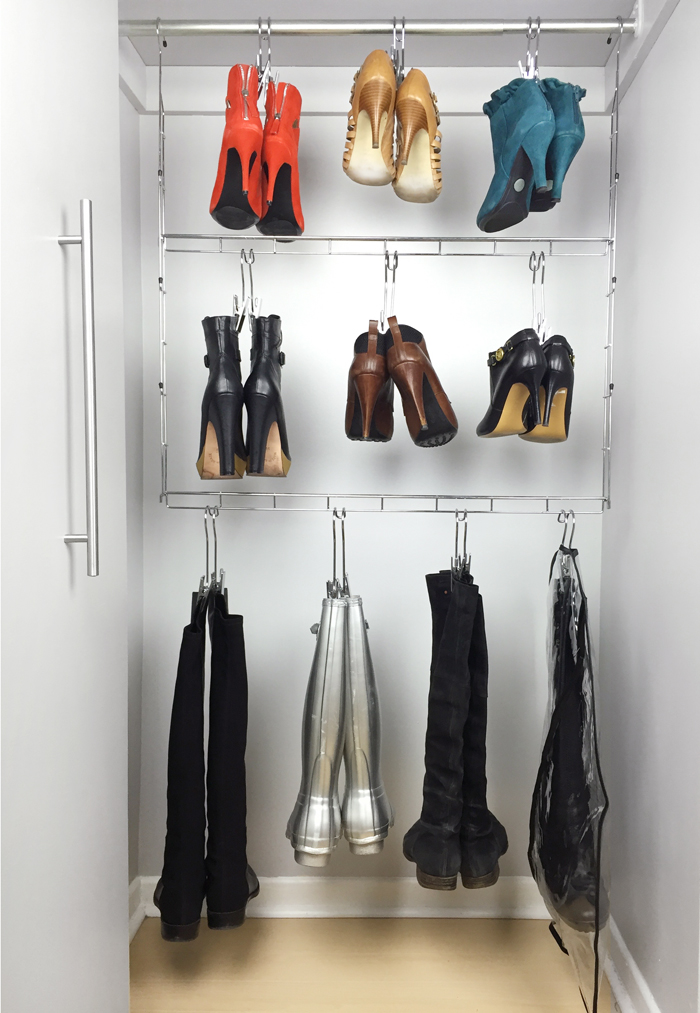 Hanging Boot Organizer with Boot Hangers