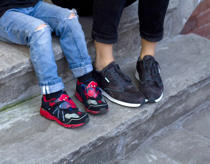 Mommy and me spiderman sneakers