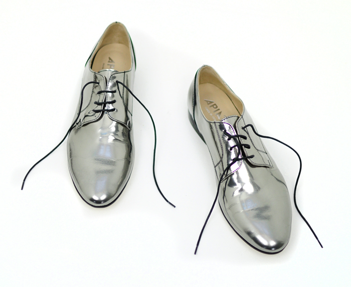 metallic oxfords size 13 womens shoes