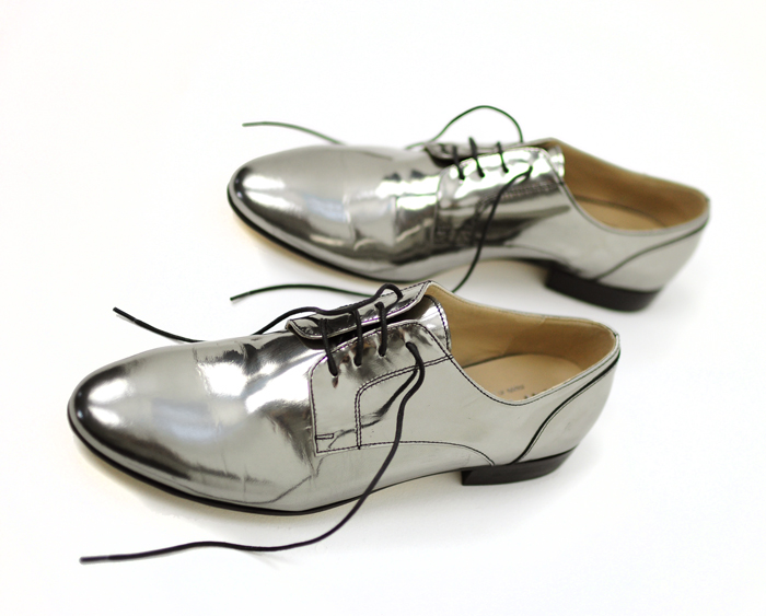 silver oxfords size 13 womens shoes