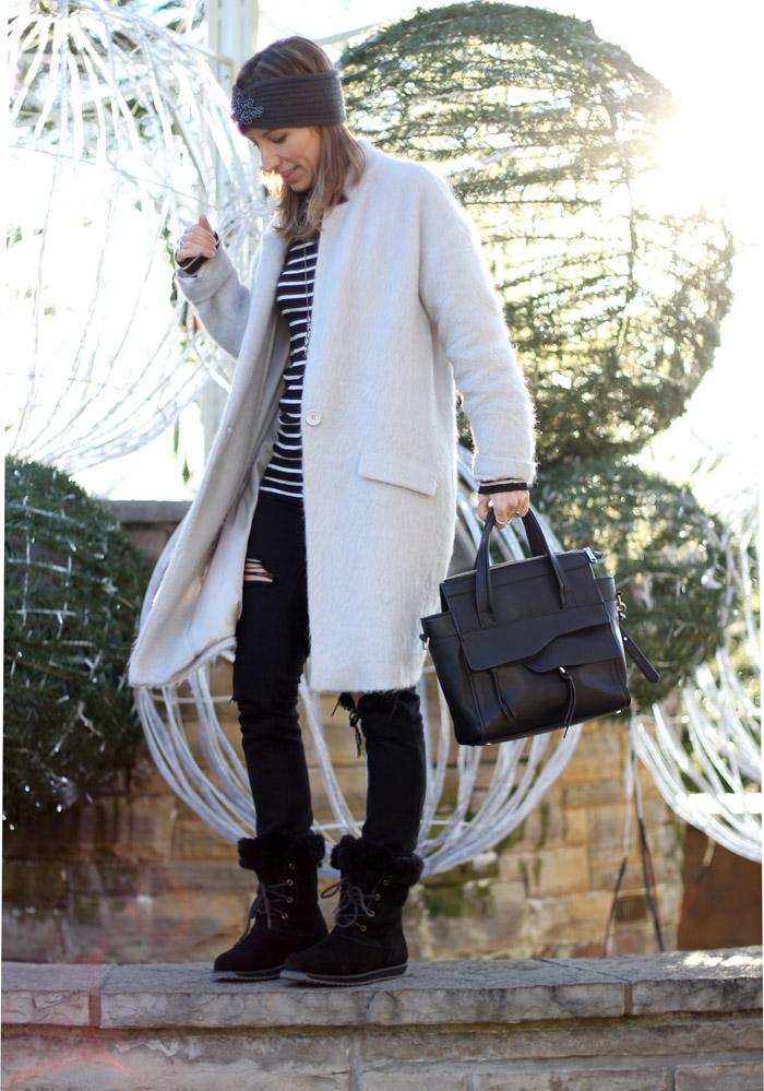 EMU Australia waterproof sheepskin boots outfit 3