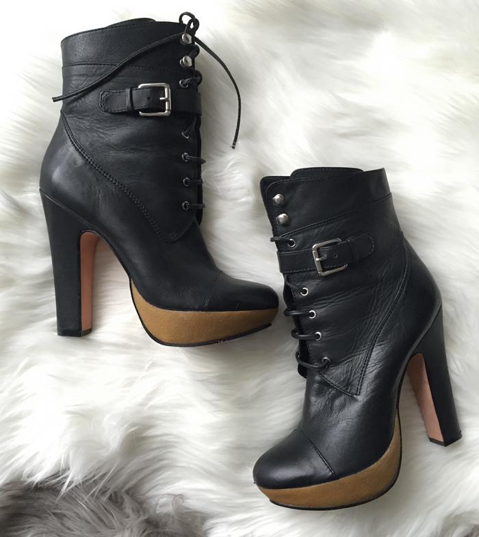 GAP leather platform boots