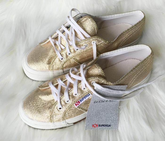 Gold Sparkle Superga sneakers
