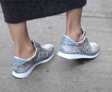 New Balance 420 animal print sneakers