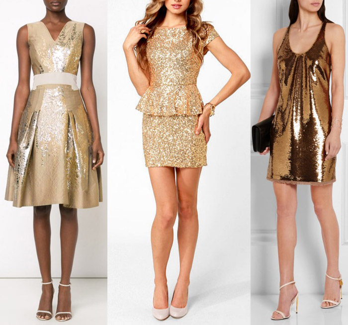 Gold dress what color shoes