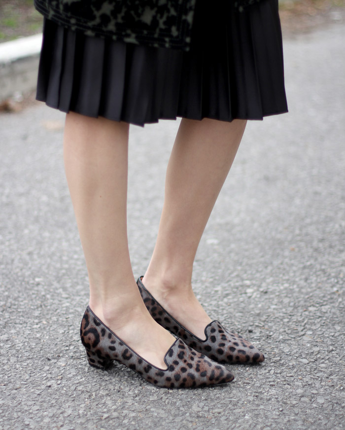 grey Leopard print loafers 1
