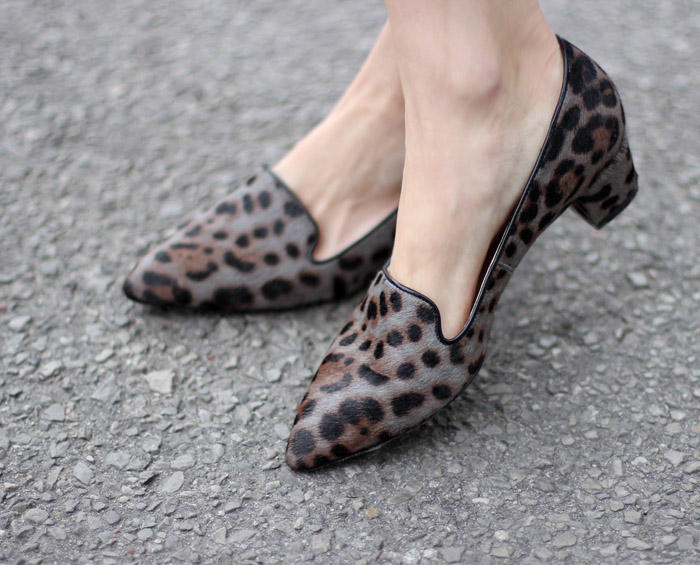 grey Leopard print loafers 2
