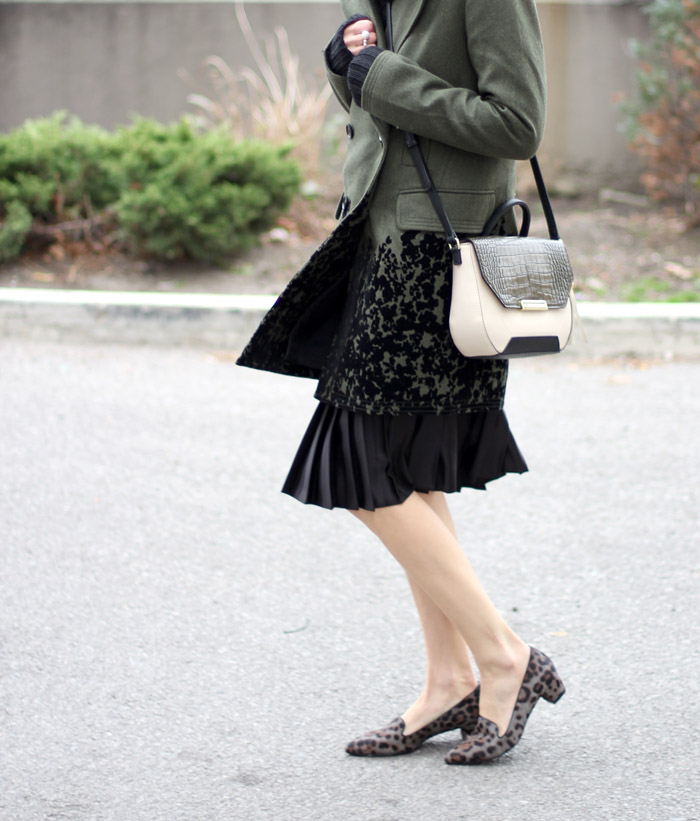 Grey Leopard Print Loafers outfit