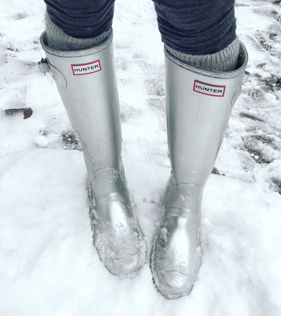 Silver Hunter Rain Boots - Shoes not to wear in the snow