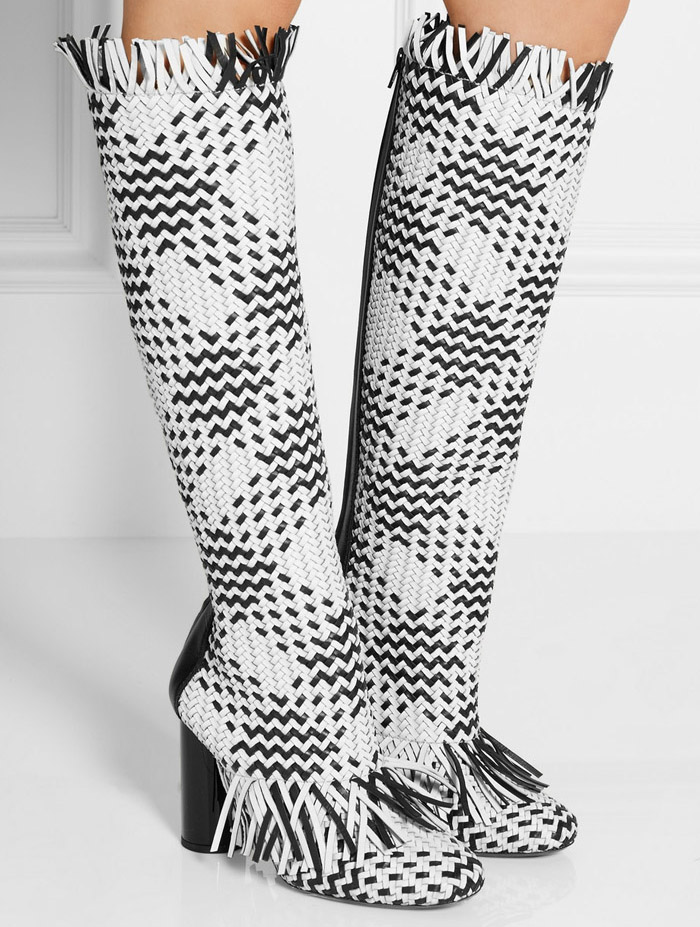 Ugly Boots with Straw-like Fringe c/o Proenza Schouler