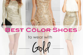 What Color Shoes to Wear with a Gold Dress