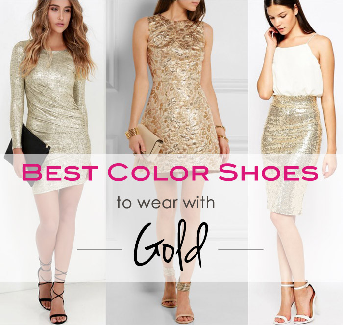 What Color Shoes to Wear with a Gold Dress or Skirt