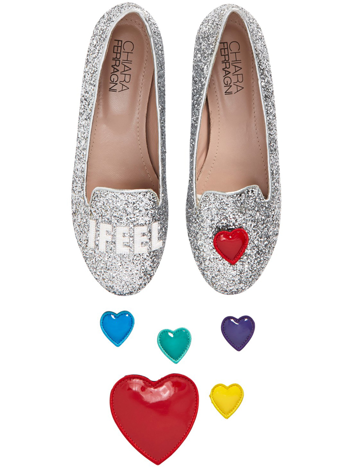 heart shoes chiara ferragni i feel