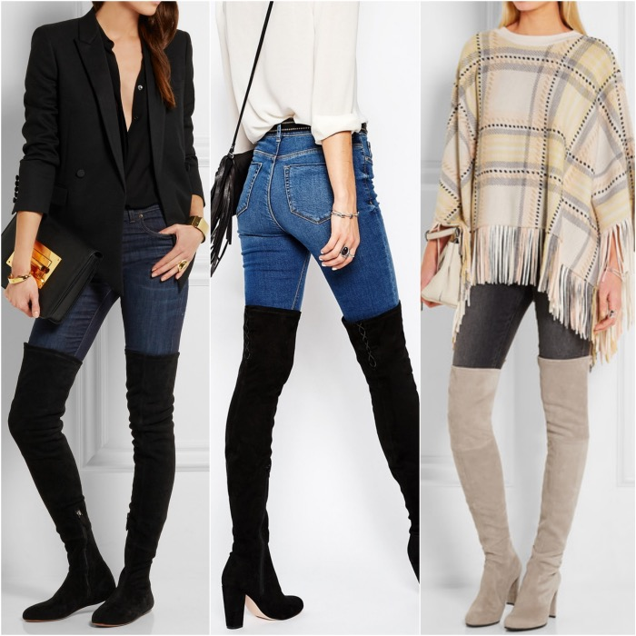 over the knee boots skinny jeans