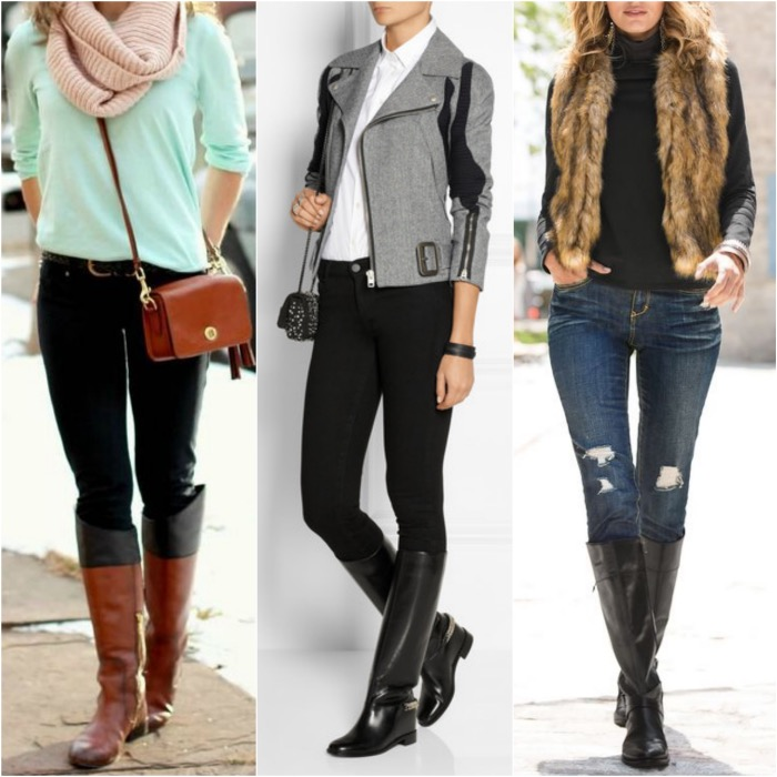 riding boots with skinny jeans