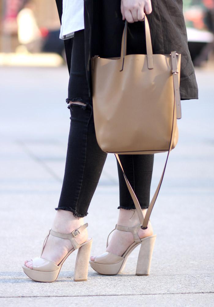 TFW beige platform sandals