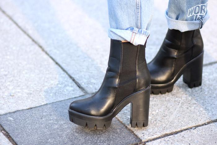TFW black platform boots