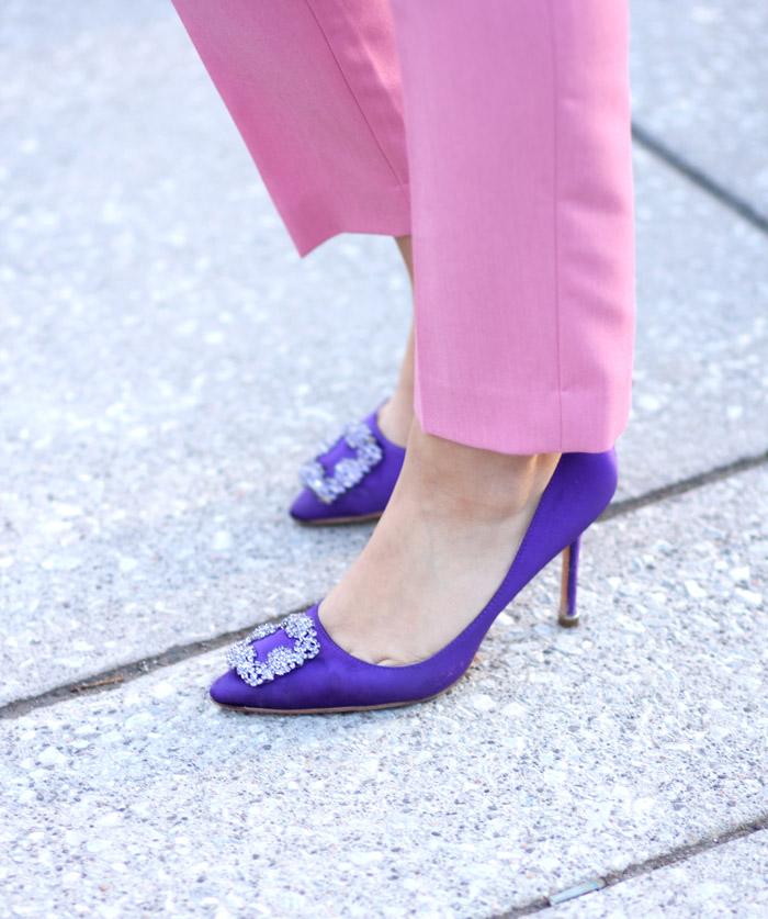 TFW purple manolo blahnik
